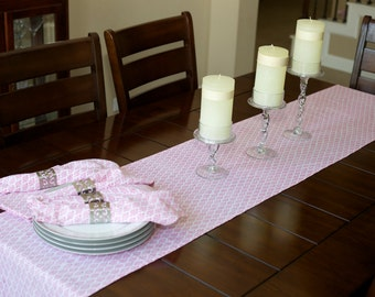 90 inch table runner / house warming gifts/ birthday party decor/ pink table runner / handblock printed  / home decor / housewares