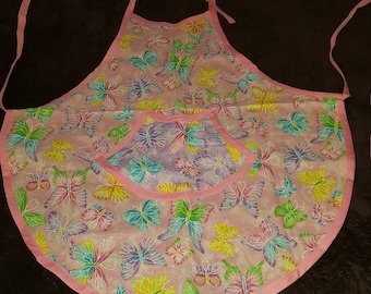 Pink and Purple Kids Butterfly Aprons