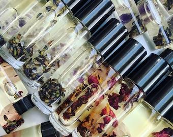 Gemstone Infused Oils, Perfume Oil, Botanical Skincare, Anointing Oils, Lavender, Rose, Vegan, Handmade, Bath & Beauty, Cruelty Free, Altar!