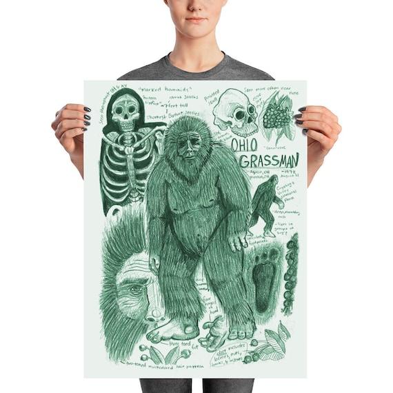 Bigfoot Sasquatch Monster Anatomy Cryptozoology Bestiary Etsy