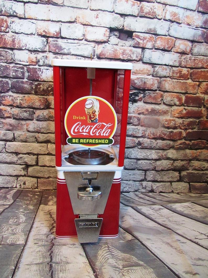 Coca cola spirit boy coke memorabilia vintage gumball machine  man cave bar decor  candy nuts dispenser Christmas gift ideas for men