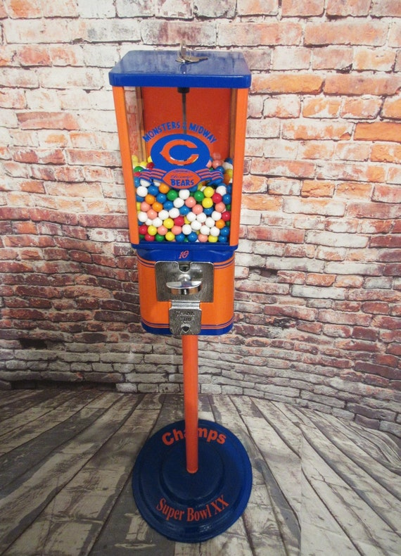 vintage gumball candy machine restored Chicago Bears inspired | Etsy