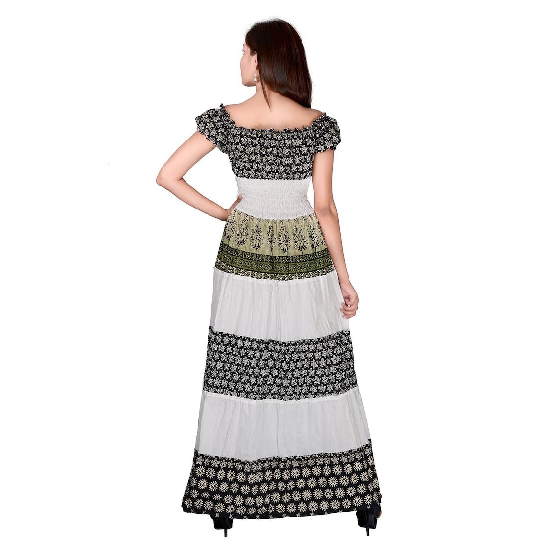 One piece printed dress maxi dress square neck women dress