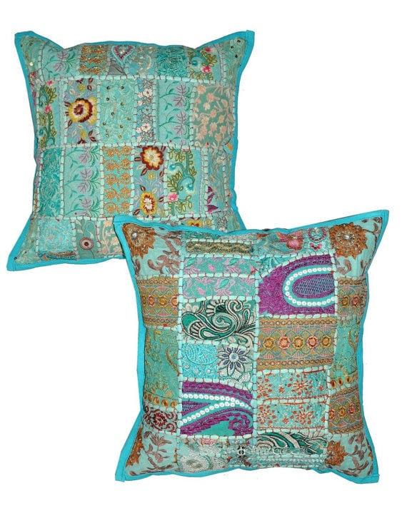 2pc Bohemian Indyjskie Poduszki Ozdobne Dekoracyjne Haftowane Poduszki Kanapy Ikea Poduszki Patio Krzesła Poduszki
