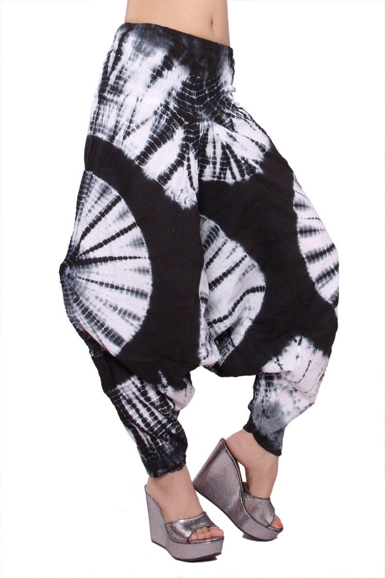 efdf41eb77b Tie dye harem pants mens yoga pants unisex yoga trousers