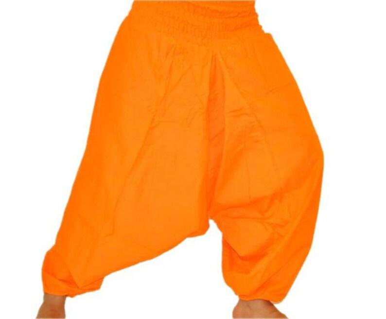 d4df2921b0d Orange mens yoga pants harem pants hippie trouser indian pants