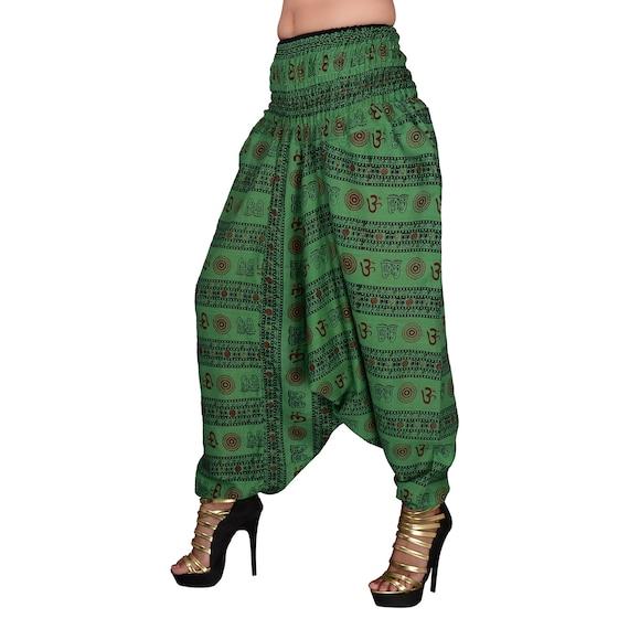 Pantalones De Mujer Eterea Harem Ohm Pantalones Yoga Indio Etsy