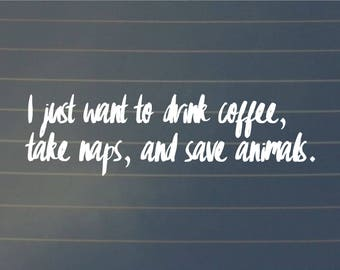 DECAL   I Just Want To Take Naps   Vinyl Decal, Car Decal, Laptop Decal, Laptop Sticker, Water Bottle Decal, Phone Decal, Bumper Sticker