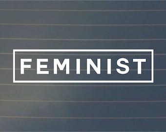DECAL | Feminist | Vinyl Decal, Car Decal, Laptop Decal, Laptop Sticker, Wall Decal, Feminist Decal, Girl Power