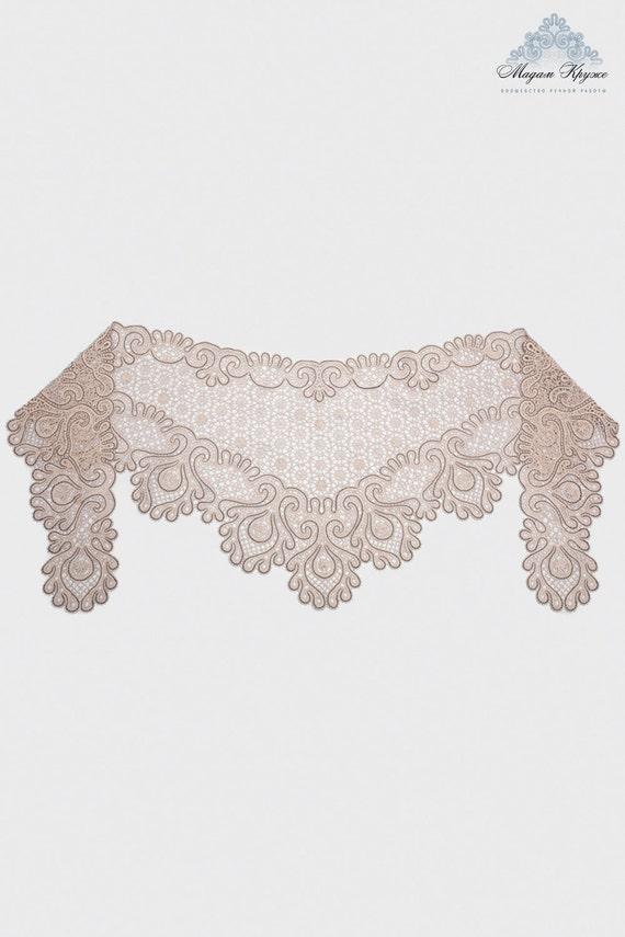 Bobbin lace Mantle Grace  Russian bobbin  lace handmade