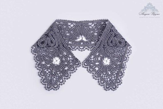Bobbin lace collar  7 bobbin lace hand made lace russian lace