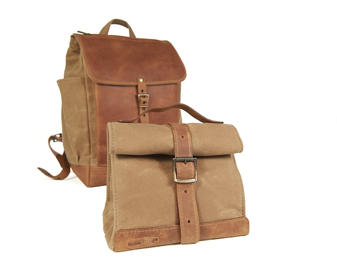 Add-on for backpack. Lunch bag with backpack