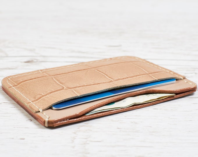 Leather card holder / Women Leather card case - Minimalist Wallet