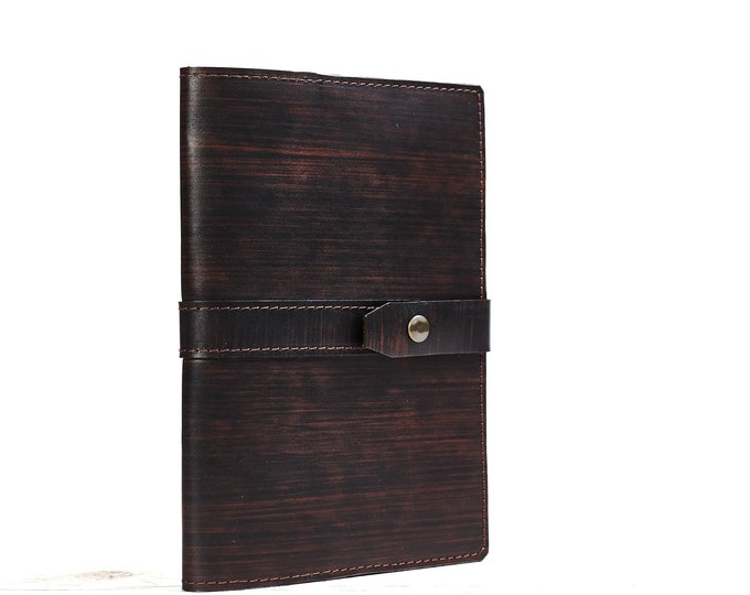 A5 leather journal cover. Notebook cover. Leather cover. Brown notebook holder. Moleskine notebook cover. Leather portfolio.