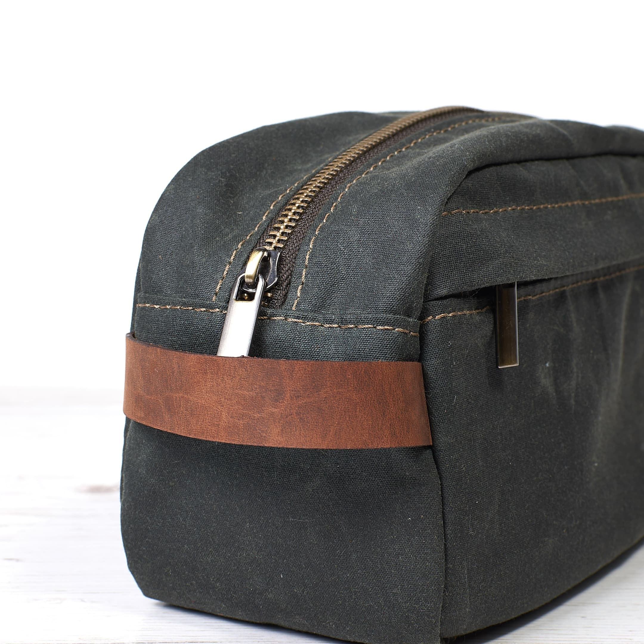 00732d8a73 Waxed canvas dopp kit. Travel accessories. 1