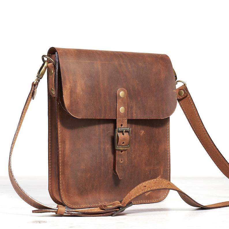 3ee650edd6 Mens leather shoulder bag. Small leather crossbody bag for