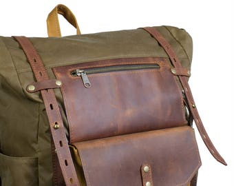 Additional external pocket for backpack. Add-on.