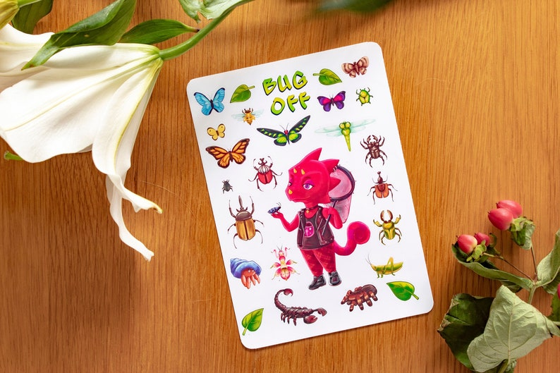 Flick Bug Off Animal Crossing Stickers image 0