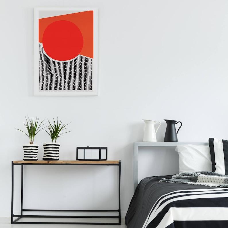 Abstract Print, Modern Abstract Art, Apartment Decor, Living Room Art,  Gallery Wall Art, Retro Poster, Bedroom Decor, Family Room Print