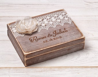 Ring Bearer Box Wedding Ring Box Personalized Ring Box Etsy