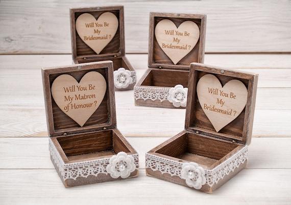 Will You Be My Bridesmaid Box Bridesmaid Proposal Box Maid Of Etsy