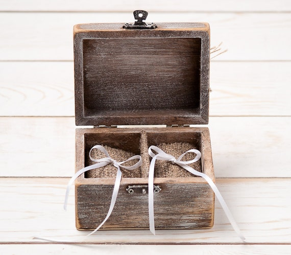 Wedding  Ring Bearer Box and Flower Girl Box Set  Rustic Item 1365
