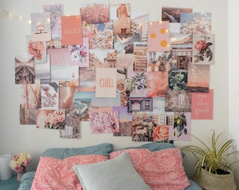 Charmant Peachy Pink Collage Kit   Collage Wall Decor