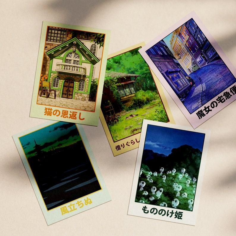 Studio Ghibli Postcard Package  5 Postcards for Princess image 0