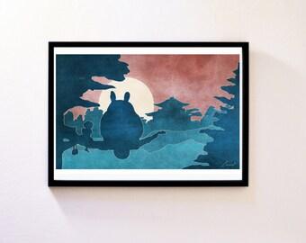 My Neighbour Totoro - Studio Ghibli - Original Art Poster