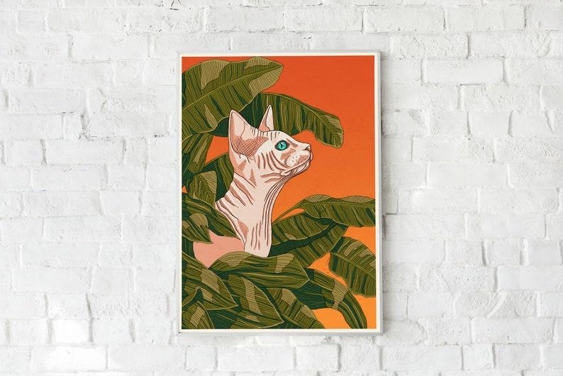 Sphynx Cat Print image 0