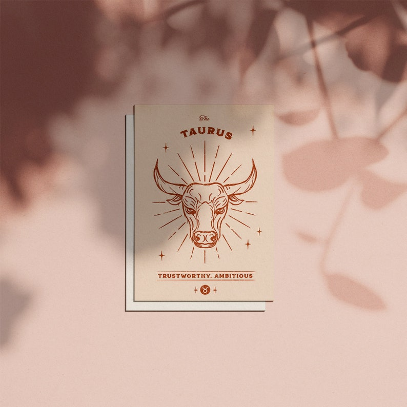 Taurus Zodiac Sign Birthday Card image 0