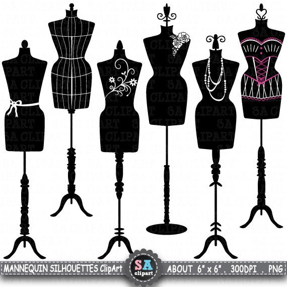 mannequin silhouette clipart mannequin silhouette etsy