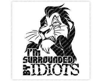 Surrounded by idiots | Etsy