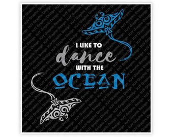 472c62d67 Disney, Moana, I Like to Dance with the Ocean, Gramma Tala, Stingray, Tattoo,  Digital, Download, TShirt, Cut File, SVG, Iron on, Transfer