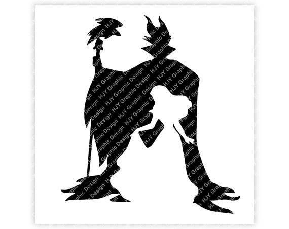 Disney Maleficent Sleeping Beauty Villain Horns Silhouette Crow Digital Download Tshirt Cut File Svg Iron On Transfer