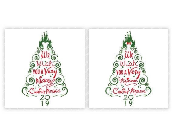 Disney Christmas Tree.Disney Christmas Tree Castle 2019 Mickey Minnie Mouse Digital Download Tshirt Cut File Svg Iron On Transfer