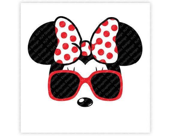 2277d8d260 Disney Minnie Mouse lunettes de soleil icône tête de Mickey | Etsy