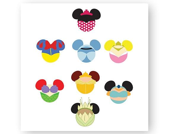 Disney Princess Icon Minnie Mouse Head Icon Mickey Mouse Etsy