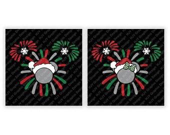 Disney, Christmas, Fireworks, Santa, Snowflake, Minnie, Minnie, Head, Ears, Digital, Download, TShirt, Cut File, SVG, Iron on, Transfer