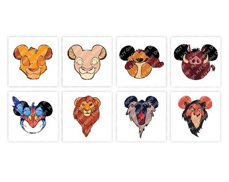 a6ca44fa7 Disney The Lion King Simba Nala Timon Pumbaa Scar | Etsy