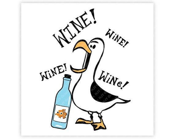 disney seagull wine finding nemo finding dory epcot etsy