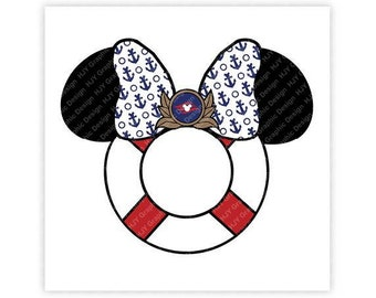 Disney, Mickey, Minnie, Captain, Cruise line, Mouse, Icon, Head, Ears, Digital, Download, TShirt, Cut File, SVG, Iron on, Transfer