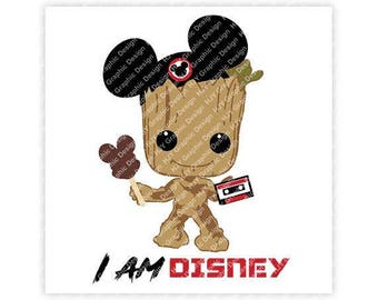 Groot, Guardians, Galaxy, Baby, Mickey, Mouse, Ears, Tape, Digital, Download, TShirt, Cut File, SVG, Iron on, Transfer