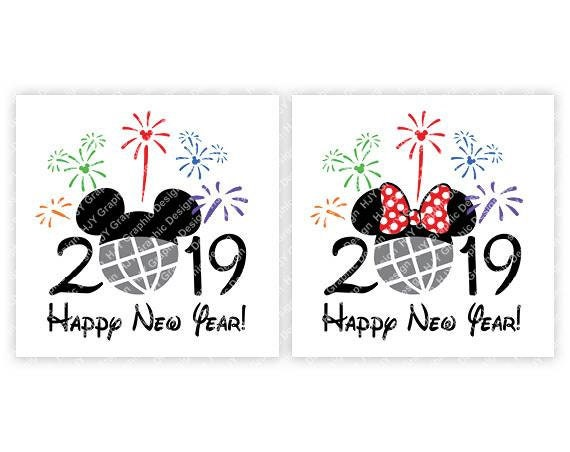 Disney Happy New Year 2019 Epcot Fireworks Mickey Mouse | Etsy