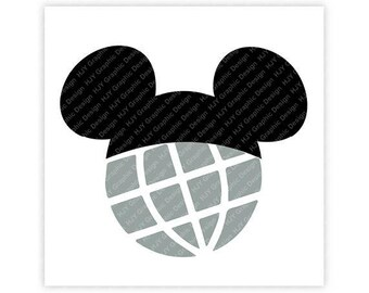 Disney, Epcot, Icon Minnie Mouse Head, Icon Mickey Mouse Head, Mouse Ears, Digital, Download, TShirt, Cut File, SVG, Iron on, Transfer