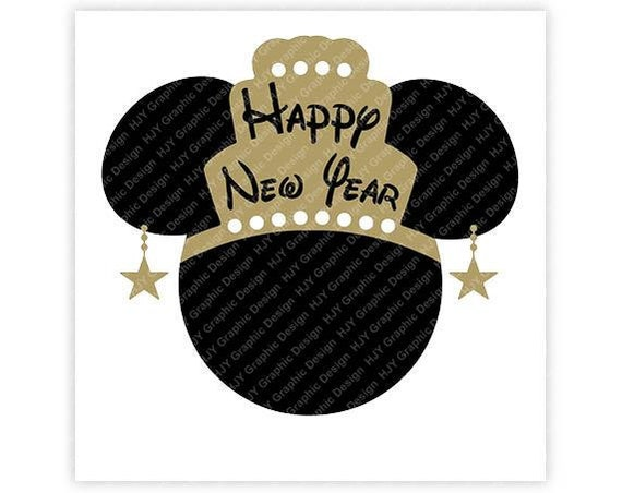 Disney Minnie Happy New Year Crown Star Earrings Head   Etsy