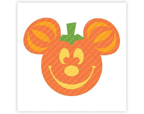 Disney Pumpkin Icon Mickey Mouse Icon Minnie Mouse | Etsy