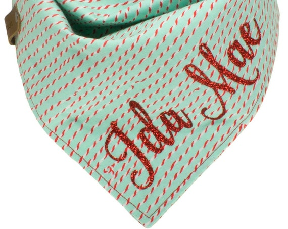 Holiday Dog Bandana Personalized