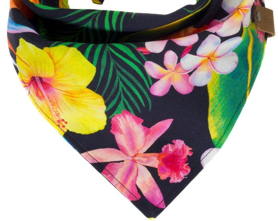 Tropical Hawaiian Dog Bandana
