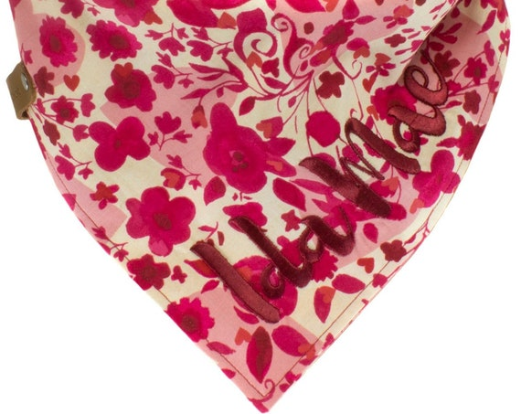 Fuchsia Valentine's Dog Bandana